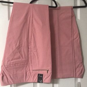 NEW NY&C pull on straight pink pants-Large